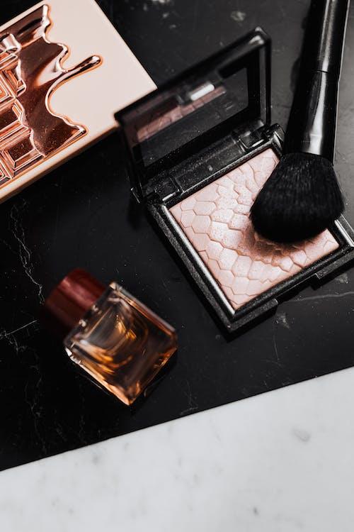 Black Make Up Brush on Black Table