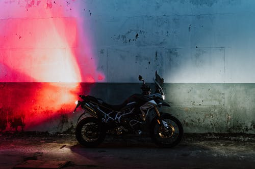 Black and Gray Motorcycle on Gray Concrete Floor