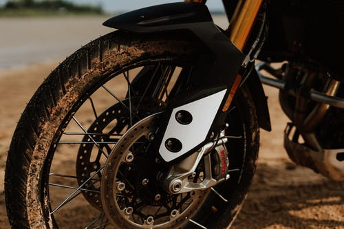 White and Brown Motorcycle Wheel