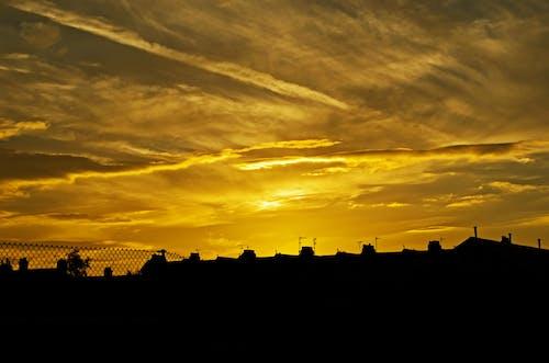 地平線, 城市, 多雲的, 太陽 的 免費圖庫相片