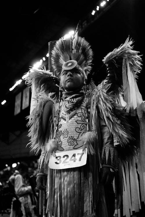 Man in festive costume on street