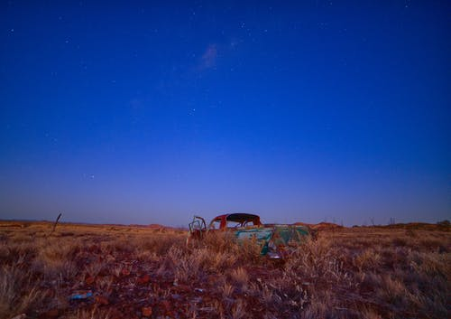 Free stock photo of car, landscape, rusted