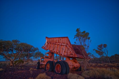 Free stock photo of dump truck, landscape, rusted