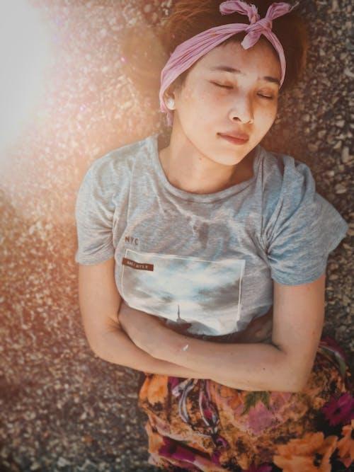 Free stock photo of asian woman, beautiful, Beautiful sunset