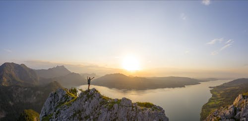 Free stock photo of attersee, austria, climbing, god