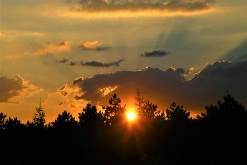 Kostenloses Stock Foto zu akşam, akşam gökyüzü, bulutlar, doğa