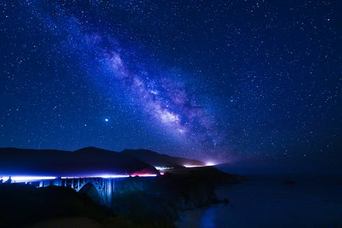 Δωρεάν στοκ φωτογραφιών με galaxy, ακτή, αστέρι, αυτοκίνητο