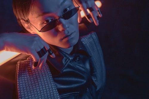 Man in Black Leather Jacket Wearing Black Sunglasses