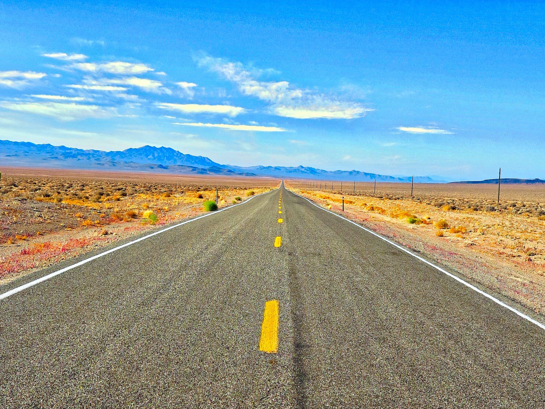 Desktop background of road, landscape, nature, sky