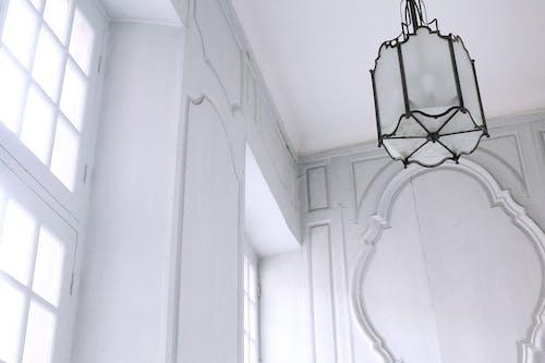 Interior of classic apartment in white color