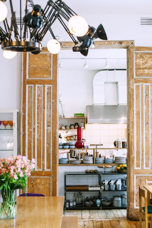 Interior of cozy kitchen at home