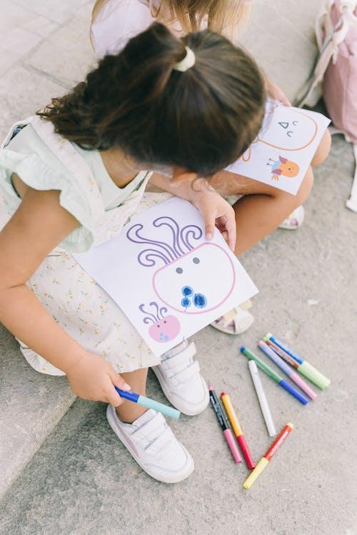 Безкоштовне стокове фото на тему «високий кут, восьминіг, дівчата»