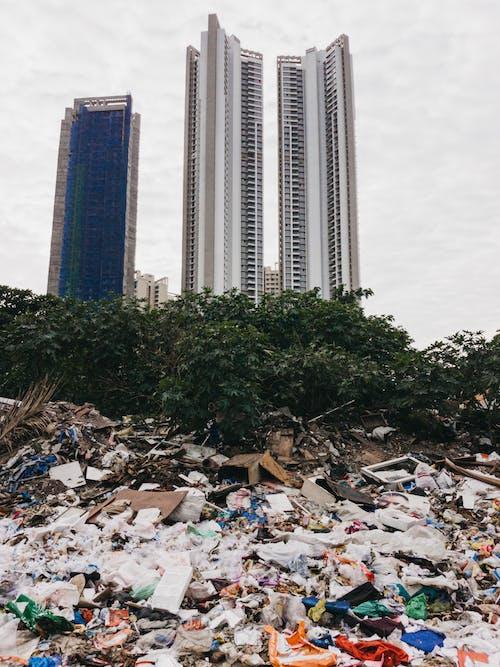 Dumpsite near High Rise Buildings