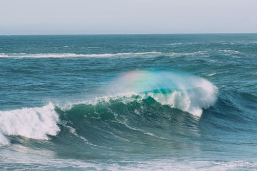 Biển Bão Với Dòng Nước Chảy Xiết Vào Ban Ngày