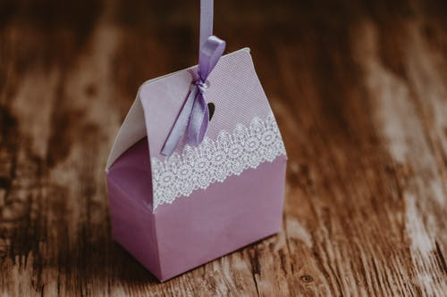 Cute small gift box with ribbon