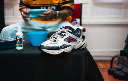 A Close-Up Shot of a Sneaker