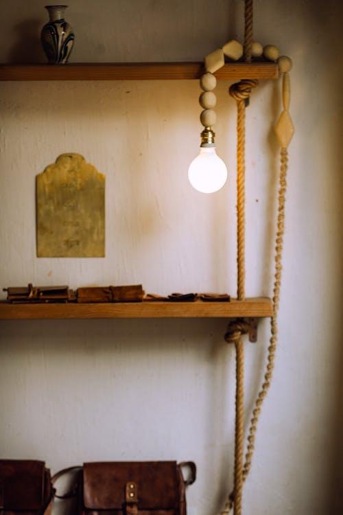 White Pendant Lamp Turned Off