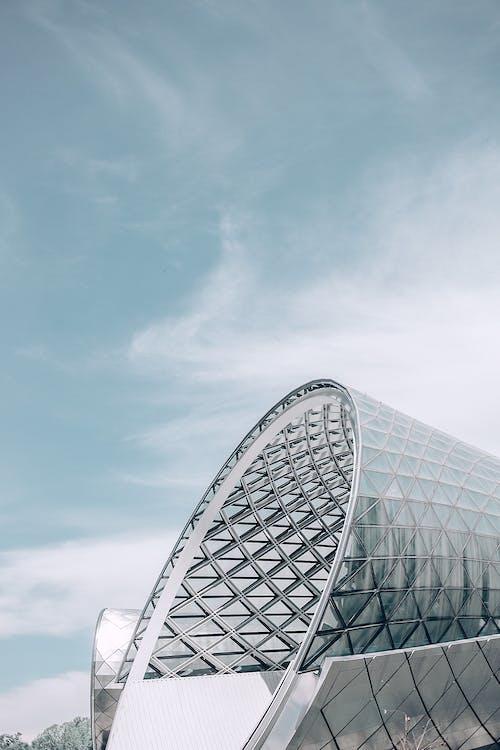 Futuristic geometric passage in urban city