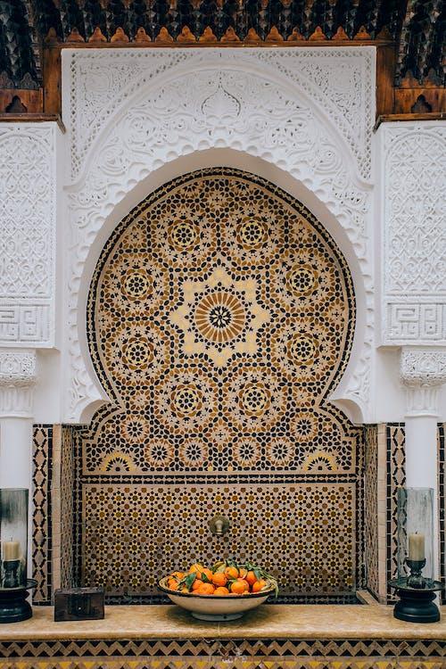 Alte Zierwand In Der Tempelhalle