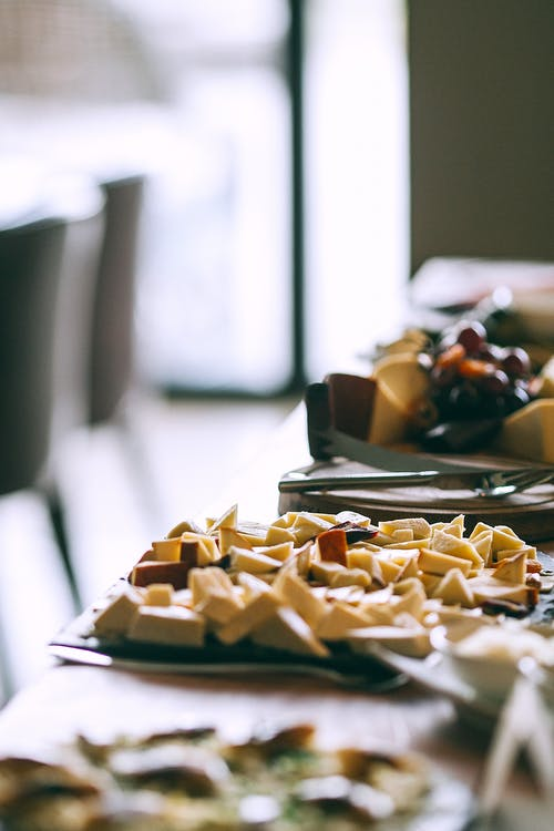 Leckere Desserts Auf Dem Tisch Im Café