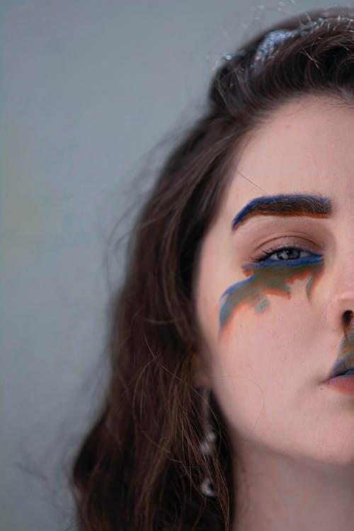 Бесплатное стоковое фото с абстрактный, абстрактный портрет, девочка