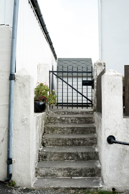 Concrete Staircase with a Small Gate