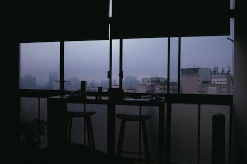 Modern office interior with windows