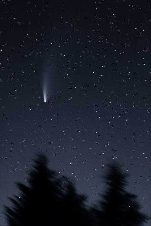 갤럭시, 네오 와이즈, 달, 망원경의 무료 스톡 사진