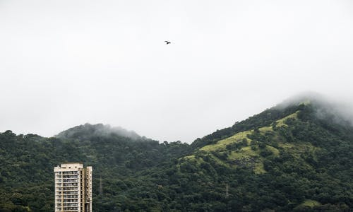 Free stock photo of buildings, cloud, forest, mountain