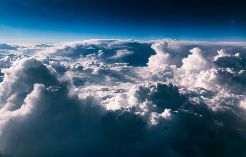 Free stock photo of above clouds, beautiful sky, blue, blue sky