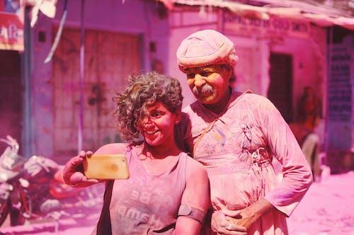 Man and Woman Taking Selfie
