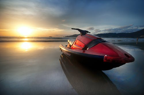 Red Personal Watercraft
