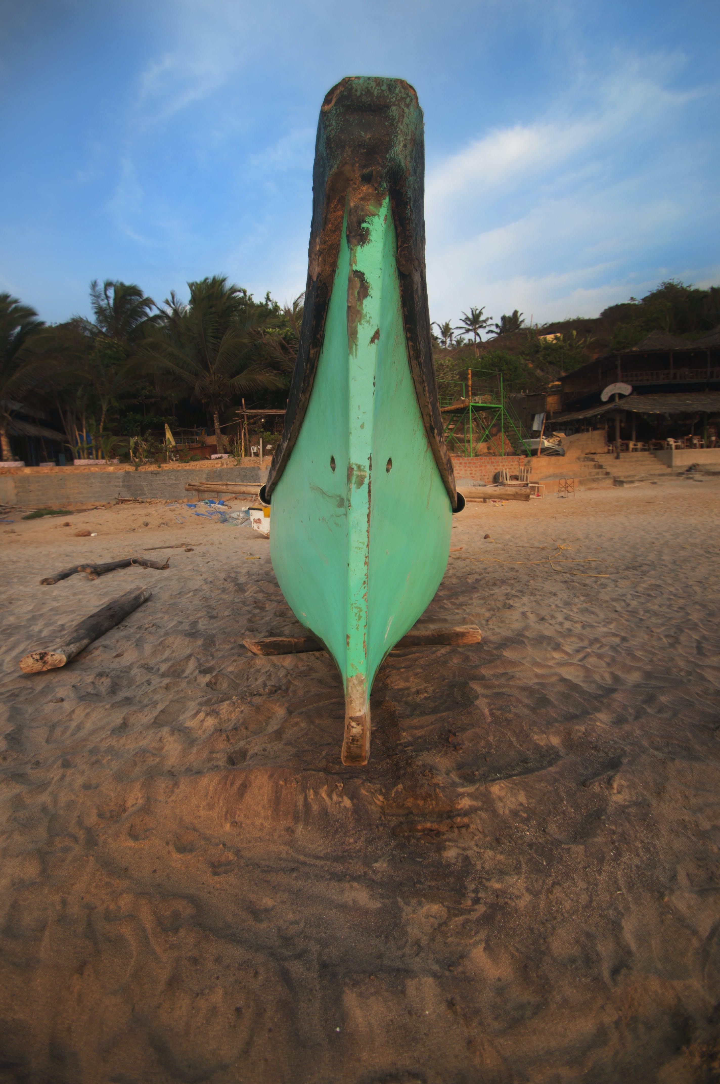 Free stock photo of beach, blue, boat, goa