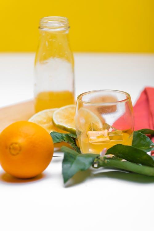 Lemonade Drink on a Glass