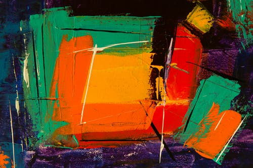 Green and Yellow Abstract Painting