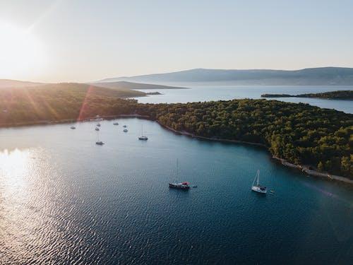 Základová fotografie zdarma na téma cestování, člun, hora, jezero