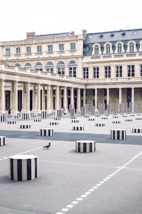 Facade of Palais Royal with columns in town