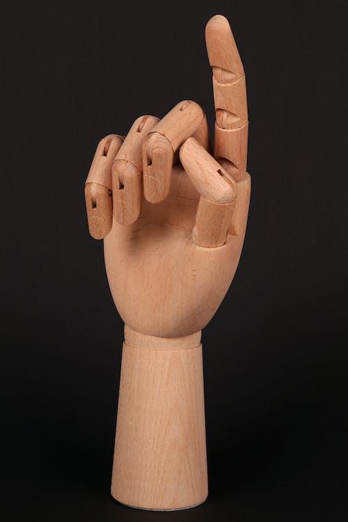 Gratis lagerfoto af pege, træ hånd