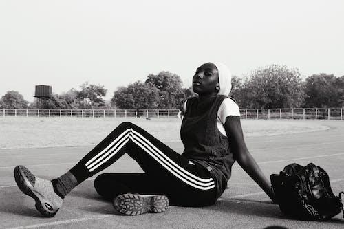 bw, アクティビティ, アフリカ系アメリカ人女性, エネルギーの無料の写真素材
