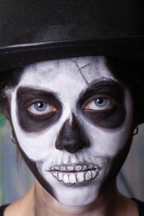 Darmowe zdjęcie z galerii z artystyczny, czaszka, farba do twarzy
