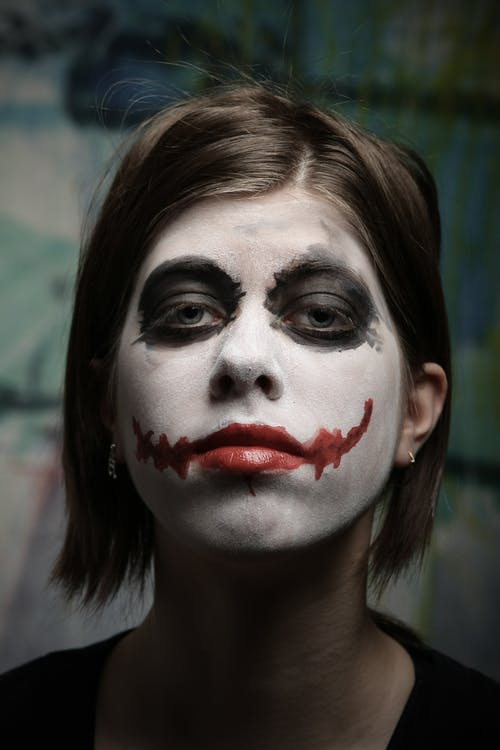 Woman With Joker Makeup
