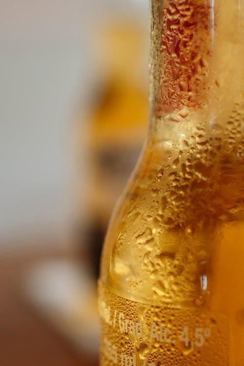 Základová fotografie zdarma na téma alkoholický nápoj, detail, kapky vody