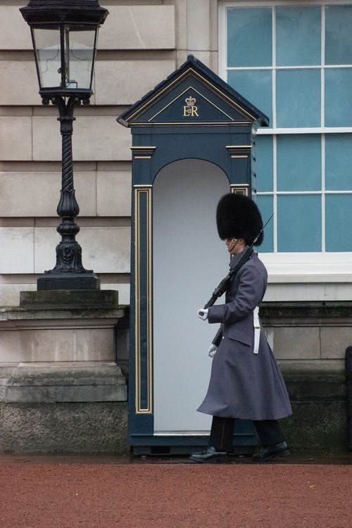Photo of Royal Guard Guarding the Outside of the Palace