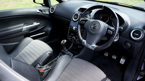 Black and Gray Mercedes Benz Steering Wheel