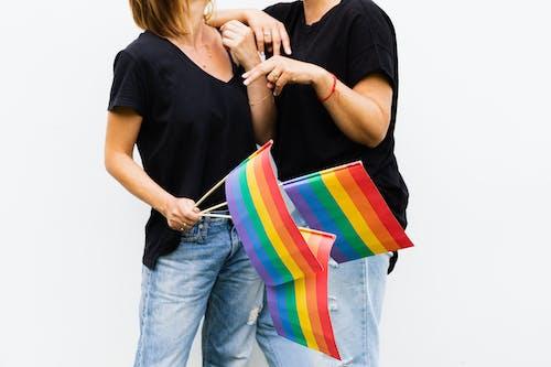 lgbt-h, 검은 셔츠, 깃발의 무료 스톡 사진