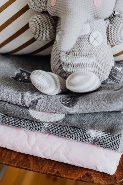 Gray and White Polka Dot Textile
