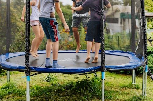 Friends on a Trampoline