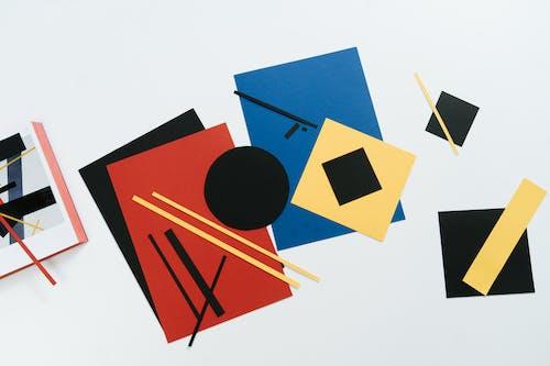 Blue Orange and Yellow Triangle Illustration