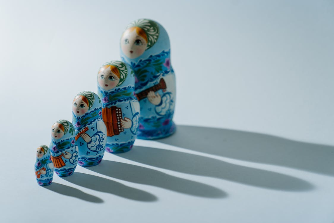 2 Blue and Yellow Ceramic Owl Figurines