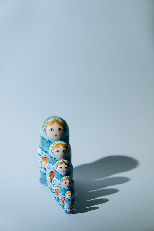 Blue and White Ceramic Figurine